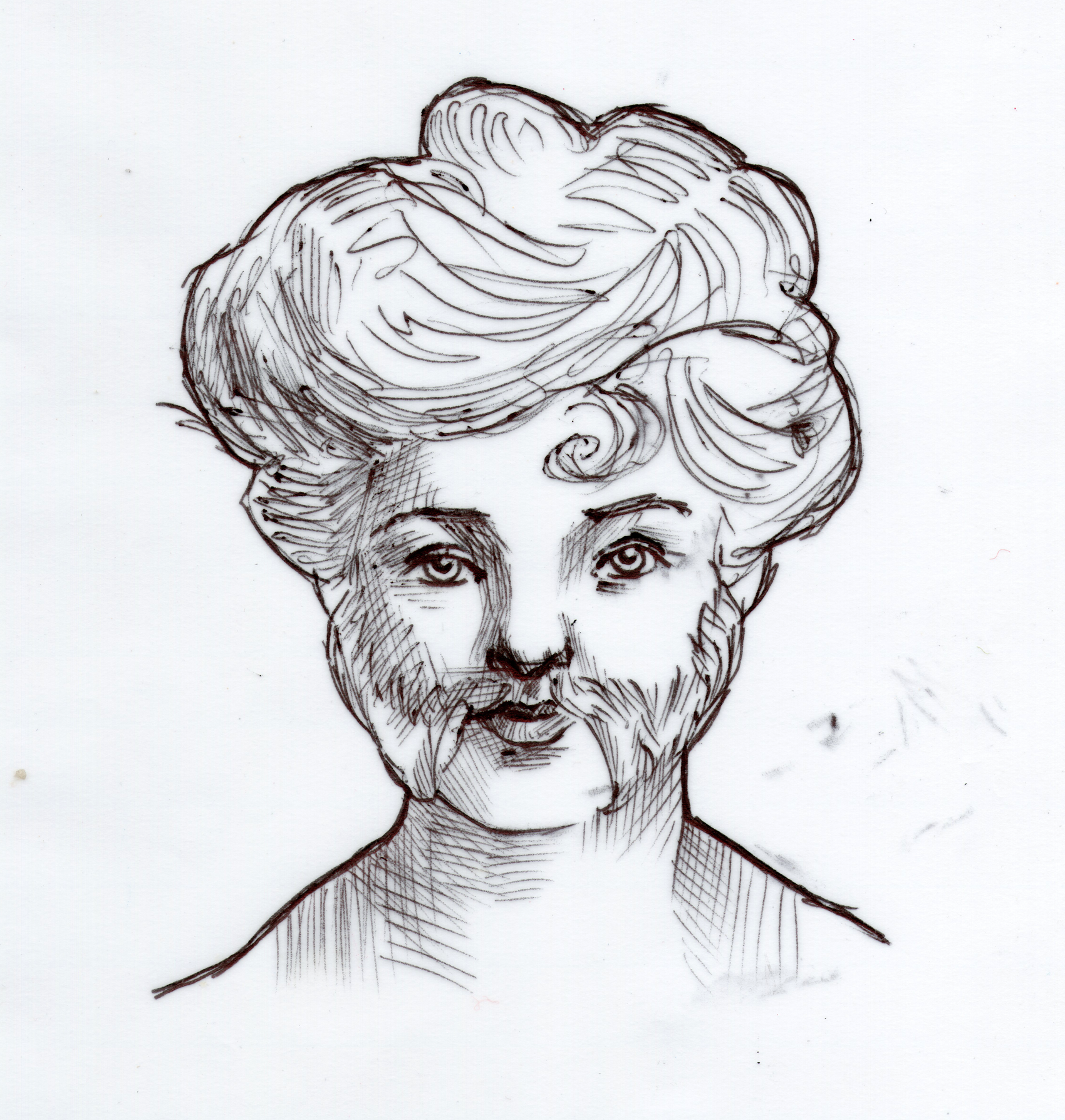 Edith Spurrell - Celebrated Bearded Lady